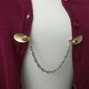 Vintage Brushed Gold Sweater Guard Clip